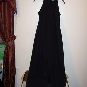LIZ CLAIBORNE BLACK WHITE GOWN DRESS 4
